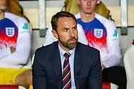 England Head Coach Gareth Southgate during the UEFA European 2020 Qualifier match between Czech Republic and England at Sinobo Stadium, Prague, Czech Republic on 11 October 2019.
