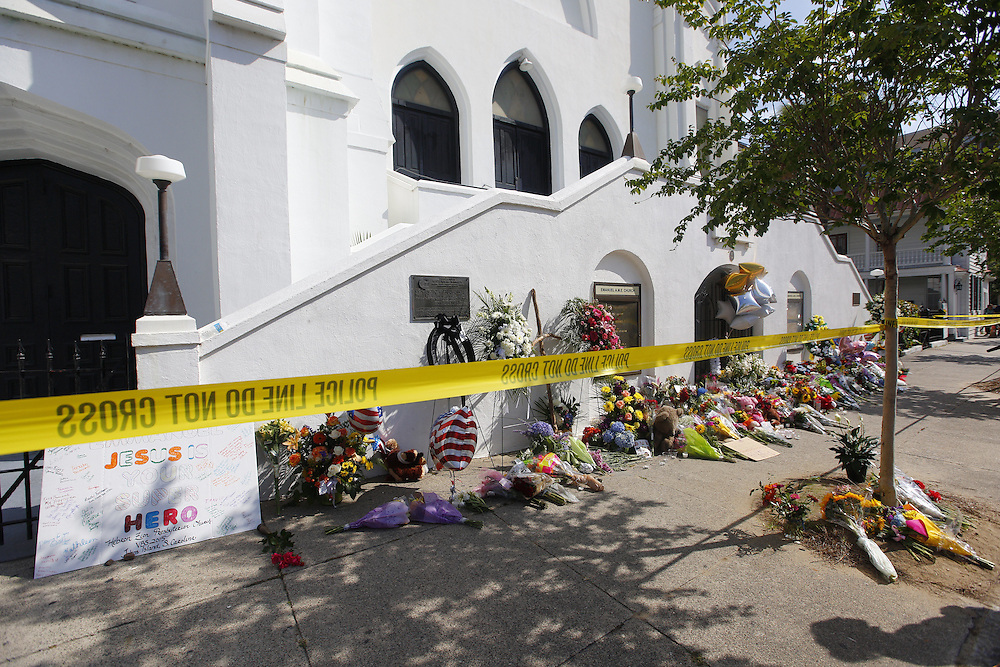 The Emanuel African Methodist Episcopal Church is shown on June 19, 2015 following shootings which left nine people dead on June 17, 2015 in Charleston, South Carolina. A suspect, Dylann Roof, 21, was arrested in connection with the shootings. Photo by Kevin Liles/UPI