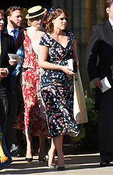 Princess Eugenie arriving at the wedding of Ellie Goulding and Casper Jopling, York Minster. Photo credit should read: Doug Peters/EMPICS