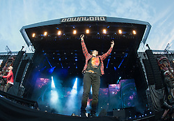 M. Shadows of Avenged Sevenfold headline on the main stage on day 1 of Download Festival at Donington Park on June 08, 2018 in Castle Donington, England. Picture date: Friday 08 June, 2018. Photo credit: Katja Ogrin/ EMPICS Entertainment.