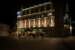 Lyceum Theater light up for the evening viewed from Norfolk Street in Sheffield<br /> <br /> 8 November 2012<br /> Image © Paul David Drabble