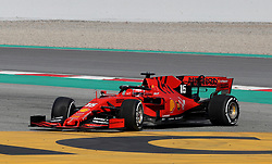 Ferrari's Chales LeClerc spins during day two of pre-season testing at the Circuit de Barcelona-Catalunya.
