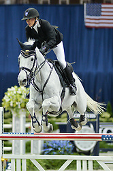 October 25, 2017 - Washington, DC, U.S - American MARILYN LITTLE, riding Clearwater, competes in the International Jumper 1.45m Time First Round held at the Capital One Arena in Washington, DC. (Credit Image: © Amy Sanderson via ZUMA Wire)