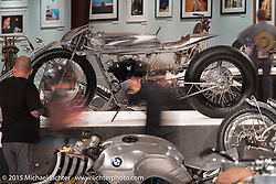 Max Hazan's custom 1965 Harley-Davidson XLCH Supercharged Ironhead in Michael Lichter's Naked Truth exhibition at the Buffalo Chip gallery during the 75th Annual Sturgis Black Hills Motorcycle Rally.  SD, USA.  August 5, 2015.  Photography ©2015 Michael Lichter.