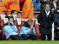 Premier League Arsenal v Manchester City<br />The games up for Man City management team David Platt, Brian Kidd and Roberto Mancini