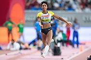 CORRECTION Malaika Mihambo (Germany), Long Jump Women Final, during the 2019 IAAF World Athletics Championships at Khalifa International Stadium, Doha, Qatar on 6 October 2019.