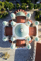 Aerial view of St Andrew's Cathedral in Patras, Greece.