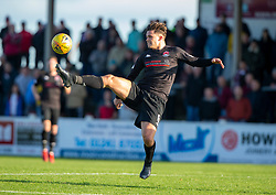 Clyde's Christopher McStay. Arbroath 0 v 2 Clyde, Tunnocks Caramel Wafer Challenge Cup 4th Round, played 12/10/2019 at Arbroath's home ground, Gayfield Park.