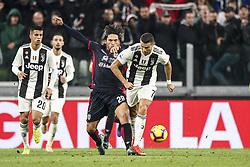 November 3, 2018 - Turin, Italy - Cagliari midfielder Lucas Castro (29) tackles Juventus forward Cristiano Ronaldo (7) during the Serie A football match n.11 JUVENTUS - CAGLIARI on 03/11/2018 at the Allianz Stadium in Turin, Italy. (Credit Image: © Matteo Bottanelli/NurPhoto via ZUMA Press)