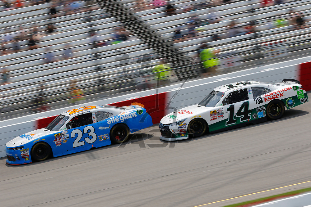 April 29, 2017 - Richmond, Virginia, USA: The NASCAR Xfinity Series teams take to the track for the ToyotaCare 250 at Richmond International Speedway in Richmond, Virginia.
