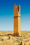 """Pictures of the Arabic astrological observation tower of the 8th century University of  of Harran, south west Anatolia, Turkey.  Harran was a major ancient city in Upper Mesopotamia whose site is near the modern village of Altınbaşak, Turkey, 24 miles (44 kilometers) southeast of Şanlıurfa. The location is in a district of Şanlıurfa Province that is also named """"Harran"""". Harran is famous for its traditional 'beehive' adobe houses, constructed entirely without wood. The design of these makes them cool inside. 52"""