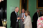 Lord Rothschild , Simon Jenkins and  Dame Vivien Clore . Celebration of Lord Weidenfeld's 60 Years in Publishing hosted by Orion. the Weldon Galleries. National Portrait Gallery. London. 29 June 2005. ONE TIME USE ONLY - DO NOT ARCHIVE  © Copyright Photograph by Dafydd Jones 66 Stockwell Park Rd. London SW9 0DA Tel 020 7733 0108 www.dafjones.com