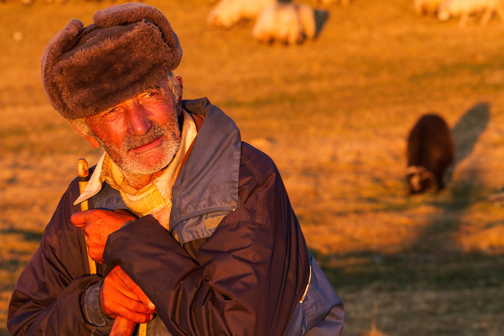 Portrait of Shepherd close to the Meteorological Station of Cuntu in the Tarcu Mountains Natura2000 area. Southern Carpathians, Munții Ṭarcu, Caraș-Severin, Romania.