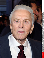 Kirk Douglas Dies At 103 - © Nicolas Khayat/ABACA. 44593-16. New York City-NY-USA, 13/04/2003. Cast member Kirk Douglas pictured as he arrives at the Loews Lincoln Square theatre to attend MGM's It Runs In The Family New York premiere.