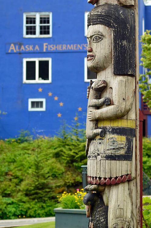Totem pole, Juneau, Alaska.