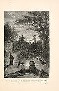 Night came on, and Pasepartout returned to the town from the book ' Around the world in eighty days ' by Jules Verne (1828-1905) Translated by Geo. M. Towle, Published in Boston by James. R. Osgood & Co. 1873 First US Edition