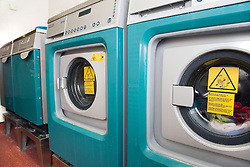 The communal laundrette of a warden aided complex for older people,