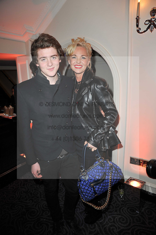 AMANDA ELIASCH and her son  at Quintessentially's 10th birthday party held at The Savoy Hotel, London on 13th December 2010.