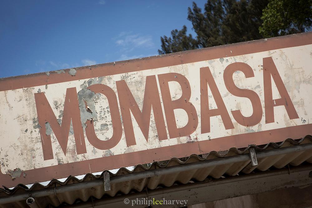 The entrance to Mombasa Train Station, Kenya