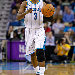 December 17, 2010; New Orleans, LA, USA; New Orleans Hornets point guard Chris Paul (3) against the Utah Jazz during the second half at the New Orleans Arena.  The Hornets defeated the Jazz 100-71. Mandatory Credit: Derick E. Hingle