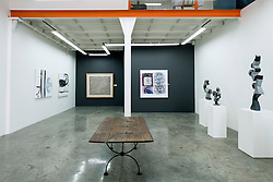 Interior of Showcase gallery at  at Alserkal Avenue warehouses in Al Quoz district in Dubai United Arab Emirates