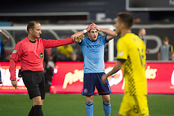 November 5, 2017 - Bronx, New York, U.S - New York City FC midfielder JACK HARRISON (11) upset over a missed shot on goal during leg 2 of the Eastern Conference Semifinal at Yankee Stadium, Bronx, NY.  NYCFC defeats Columbus Crew 2-0.  Columbus wins 4-3 on aggregate. (Credit Image: © Mark Smith via ZUMA Wire)