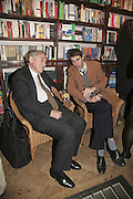 Mark Littman and the hon Tom Fisher, Book launch of Pretty Things by Liz Goldwyn at Daunt <br />Books, Marylebone High Street. London 30 November 2006.   ONE TIME USE ONLY - DO NOT ARCHIVE  © Copyright Photograph by Dafydd Jones 248 CLAPHAM PARK RD. LONDON SW90PZ.  Tel 020 7733 0108 www.dafjones.com