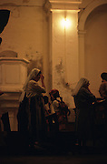 Some sisters and a few inhabitants of Ilha de Mozambique pray in Mercy Church. Most the islands residents are muslims