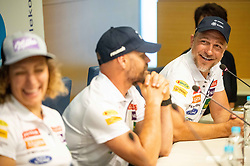 Ilka Stuhec, Jani Gril and Stefan Abplanalp during presentation of new alpine ski team of Ilka Stuhec before new season 2019/20, on June 10, 2019 in Telekom Slovenije, Ljubljana, Slovenia. Photo by Vid Ponikvar / Sportida