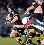 Wycombe. GREAT BRITAIN, 5th December 2004. Heineken Cup Rugby  London Wasps and Leicester Tigers,  Adams Park, ENGLAND, [Mandatory Credit; Peter Spurrier/Intersport-images].<br /> <br /> Wasps Jonny O'Conner breaks