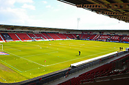 A general view of the stadium before the EFL Sky Bet League 1 match between Doncaster Rovers and Plymouth Argyle at the Keepmoat Stadium, Doncaster, England on 13 April 2019.
