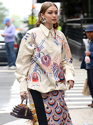 Gigi Hadid in a photo shoot in New York City. 01 Jun 2018 Pictured: Gigi Hadid. Photo credit: TPG/MEGA TheMegaAgency.com +1 888 505 6342