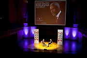 London, UK. Thursday 17th January 2013. Kofi Annan once Secretary General of the United Nations (UN) speaking at Cadogan Hall to promote his book: Interventions: A Life in War and Peace. In conversation with writer and broadcaster William Shawcross. This event was put on by The Spectator.
