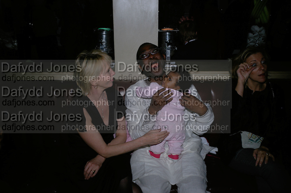 Trudie Styler, Youssou N'Dour and his daughter Moura, UK Premiere of Amazing Grace. Curzon Mayfair. Afterparty at the Mirabelle. London. 19 March 2007. -DO NOT ARCHIVE-© Copyright Photograph by Dafydd Jones. 248 Clapham Rd. London SW9 0PZ. Tel 0207 820 0771. www.dafjones.com.