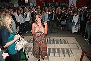 Michelle Heaton, Cast change for Wicked. Apollo Victoria theatre. After party at Park Plaza Victoria. 12 April 2007.  -DO NOT ARCHIVE-© Copyright Photograph by Dafydd Jones. 248 Clapham Rd. London SW9 0PZ. Tel 0207 820 0771. www.dafjones.com.