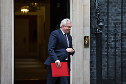 © Licensed to London News Pictures. 14/11/2017. London, UK.  Secretary of State for Exiting the European Union David Davis leaves 10 Downing Street after the weekly Cabinet meeting. Photo credit: Rob Pinney/LNP