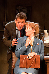 """© licensed to London News Pictures. London, UK  03/06/2011. Dominic West, star of the hit US drama """"The Wire"""", plays rapier-tongued lecturer Ben Butley in a major new revivial of Simon Gray's award-winning novel until 27 August 2011. Penny Downie as Edna Shaft and Dominic West as Ben Butley. Please see special instructions for usage rates. Photo credit should read Bettina Strenske/LNP"""
