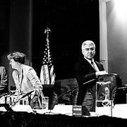 John Lehman and Richard Ben-Veniste, 9/11 Commission Hearing 11, New School University, New York
