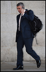 Mark Hanna leaves the  Old Bailey  after the official start of the Phone Hacking Trial, London, United Kingdom. Wednesday, 30th October 2013. Picture by Andrew Parsons / i-Images