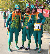 Ireland fans prior to kick off during the Rugby World Cup Pool D match between Ireland and Italy at the Queen Elizabeth II Olympic Park, London, United Kingdom on 4 October 2015. Photo by Matthew Redman.