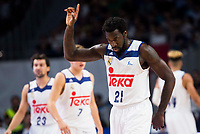 Real Madrid's player Othello Hunter during match of Liga Endesa at Barclaycard Center in Madrid. September 30, Spain. 2016. (ALTERPHOTOS/BorjaB.Hojas)