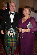 SIR KENNETH AND LADY CALMAN, The National Trust for Scotland Mansion House Dinner. Mansion House, London. 16 October 2013