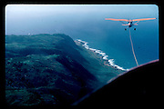 Being towed in a glider off the coast of California. Dangerous Sports Club. 1980 approx.  *** Local Caption *** -DO NOT ARCHIVE-© Copyright Photograph by Dafydd Jones. 248 Clapham Rd. London SW9 0PZ. Tel 0207 820 0771. www.dafjones.com.