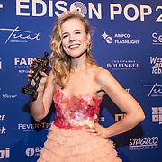 NLD/Amsterdam/20190212- Uitreiking Edison Pop 2019, Ilse de Lange ontvangt de Edison Ouvreaward