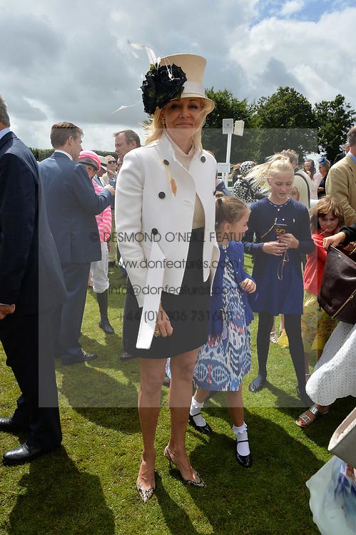 Nadja Swarovski at the Qatar Goodwood Festival, Goodwood, West Sussex England. 3 August 2017.<br /> Photo by Dominic O'Neill/SilverHub 0203 174 1069 sales@silverhubmedia.com