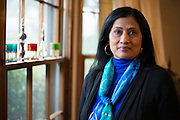 Jay Joshi poses for a portrait at her home in Richardson, Texas on March 2, 2015. (Cooper Neill for The Huffington Post)
