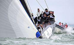 The Duchess of Cambridge (right) takes part in the King's Cup regatta at Cowes on the Isle of Wight. The royal couple are going head to head in the regatta in support of their charitable causes.