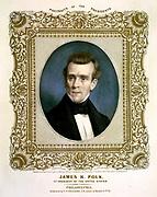 President James K Polk 1860. 11th President of the United States of America.