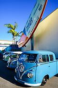 Vintage Volkswagen Vans Classic Car Show at Huntington Beach Pier