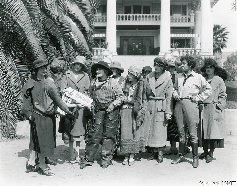 1924 Hollywood Studio Club Girls. Charlotte Merriam is in the cowgirl outfit.